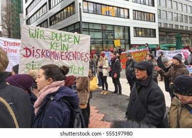 13  January 2017 - Tuition fees for non EU students protest in Stuttgart,Germany