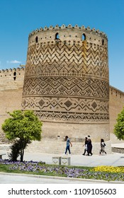 13 march 2017 ;Shiraz Iran ;unidentifiled iranians  are walking around Arg of Karim kan .Arg-e Karim Khan, an 18th century citadel built by and named after the founder of the Zand Dynasty.