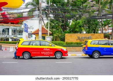 13 May 2015 in Pattaya Thailand, Thailand taxi park to wait passenger