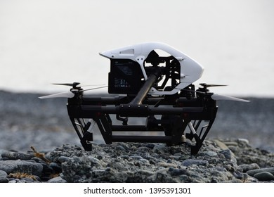 13 May 2019, Nonza, drone dji inspire one Professional in the nature