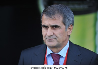 13 November 2010. Istanbul, Turkey. Senol Gunes is a Turkish football manager, former player and the current manager of Be?ikta? J.K.