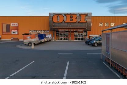 13 of September, 2017 Editorial photo of OBI supermarket, Opava, Czech Republic, CZ