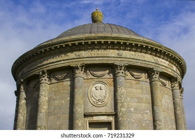 13 September 2017 Mussenden Temple on the Downhill Demesne on the North Coast of Ireland in County Londonderry.