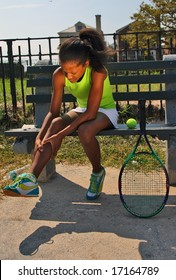 13 year old girl with knee injury from tennis game