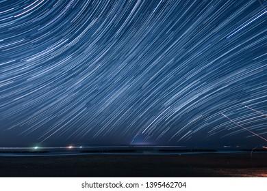 Of 130 minutes,star of the trajectory (Sendai Arahama Coast)