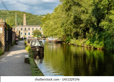 13/06/2019 Hebden Bridge, West Yorkshire, UK. Hebden Bridge is a market town in the Upper Calder Valley in West Yorkshire, England. It is 8 miles west of Halifax and 14 miles north-east of Rochdale