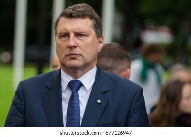"13.07.2017. RIGA,LATVIA.  President of Republic of Latvia Raimonds Vejonis(R)  People's Meeting for ""Rule of law in Latvia"",  near Riga Castle."