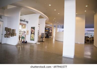 "13.08.2017 Russia. Samara. International airport ""Kurumoch"" Shops at the airport"