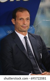 13.08.2017. Stadio Olimpico, Rome, Italy. Super Cup Tim Final football. Juventus vs Lazio. Max Allegri Juventus coach.