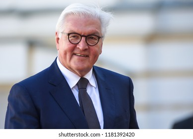 13.09.2018. RUNDALE, LATVIA. Frank-Walter Steinmeier, President of Germany, during Official arrival ceremony of the 14th Informal Meeting of the Arraiolos Group in Rundale palace, Latvia.