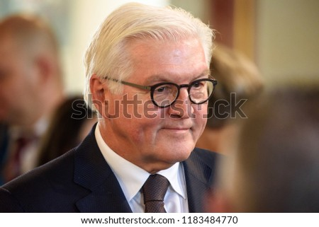 13.09.2018. RUNDALE, LATVIA. Frank-Walter Steinmeier, President of Germany, during First working session, during the 14th Informal Meeting of the Arraiolos Group in Rundale palace, Latvia.