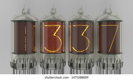 1337 in nixie tubes, for the leet
