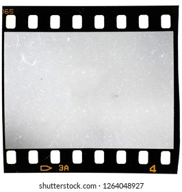 135 film material, 35mm filmstrip on white