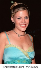 "13OCT99:  ""Freaks and Geeks"" star BUSY PHILIPPS at the Los Angeles premiere of ""The Story of Us"" which stars Bruce Willis & Michelle Pfeiffer.  Paul Smith / Featureflash"
