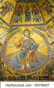 13th century mosaics in baptistery  Florence, Italy
