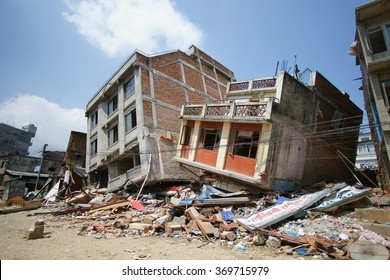 13th May 2015, Earthquake damage in Kathmandu, Nepal from a 7.3 M aftershock