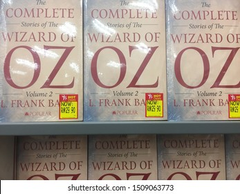 13th September 2019, Shah Alam, Malaysia. The famous Wizard of Oz volume 2 novel on bookshelves in bookseller shop.