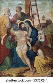 13th Stations of the Cross, Jesus' body is removed from the cross