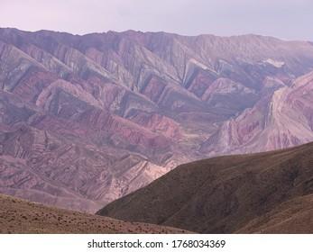 The 14 coloured mountains.  Cerro Hornocal, Humahuaca, Argentina