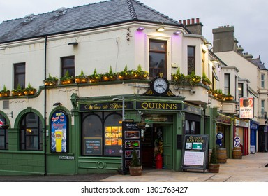 14 December 2018 Quinn's Traditional Irish Pub in Newcastle County Down in late afternoon light in midwinter
