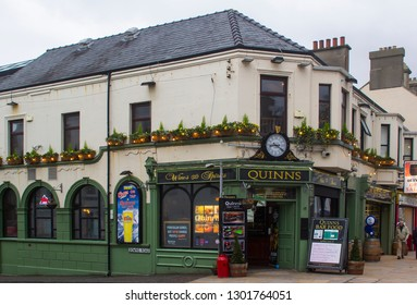 14 December 2018 Quinn's Traditional Irish Pub in Newcastle County Down in the dull light of a mid winter afternoon
