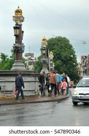 14 july 2012. Ornate bridge  in Amsterdam, The Netherlands.