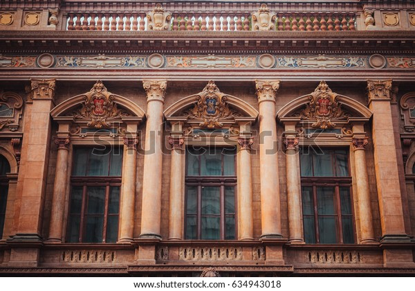 14 July 2016 - Odessa, Ukraine. Beautiful building with columns in the city of Odessa.