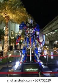 14 June 2017, Siam Paragon Bangkok Thailand, Tranformer model for promote Tranformer 5
