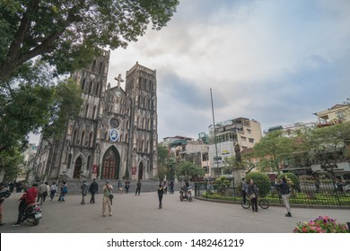 14 Mar 16 : St. Joseph's Cathedral is a neo gotic style church in centre of old quater Hanoi city, Vietnam