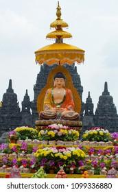 14 may 2014, Yogyakarta, Indonesia : Indonesian Buddhists celebrated Vesak/Waisak at the Sewu temple as they marked the birth, enlightment, and death of Gautama Buddha.