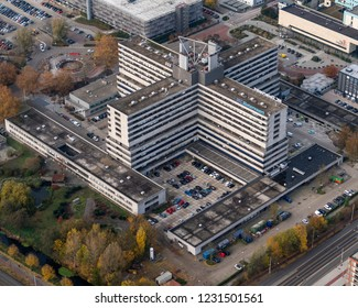 14 November 2018, Amsterdam, Holland. Aerial view of hospital MC Slotervaart. The medical center filed for bankruptcy in the autumn of 2018