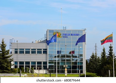 KLAIP?DA,LITHUANIA-MAY 14: PHILIP MORRIS LIETUVA factory on May 14,2017 in Klaip?da,Lithuania.Philip Morris International Inc. is an American global cigarette and tobacco company.