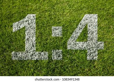 1:4 score on soccer meadow