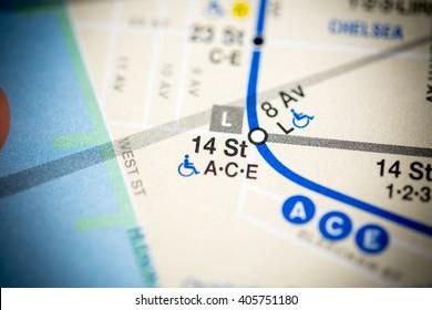 14 St. Eigth Avenue Line. NYC. USA