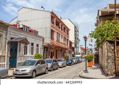14.05.2017 - The narrow street of the old town Batumi, Georgia.