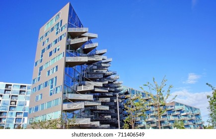 14/08/2013 - VM Houses, designed by JDS Architects and Bjarke Ingels Group, Orestad district, Copenhagen, Denmark