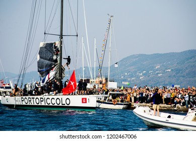 14.10.2018 Trieste, Italy. Barcolana, international traditional regatta