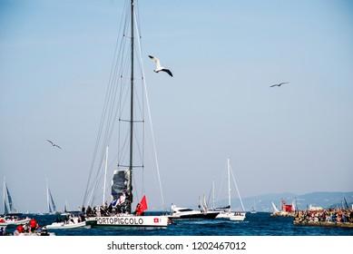 14.102018 Trieste Italy Barcolana international traditional regatta