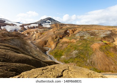 Kerlingarfjöll is a 1,477 m tall mountain range in Iceland situated in the Highlands of Iceland near the Kjölur highland road.