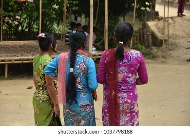 14-April-2017 11:00 AM - Local People are enjoying the Bengali new year celebration program in Chittagong Hilly Area or Bangladesh