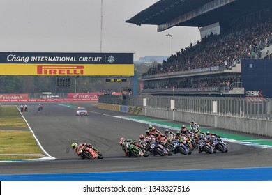 15 - 17 March 2019, World Superbike Championship 2019, Round 2 Pirelli Thai Round, WorldSBK and WorldSSP Class, Chang International Circuit, Buriram, Thailand.