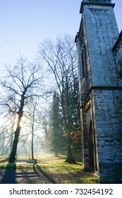 15 dec 2016. Weimar Main Park, Germany. Weimar revolutionized architectural and aesthetic concepts and practices and has had two UNESCO sites declared: the cemetery and houses.