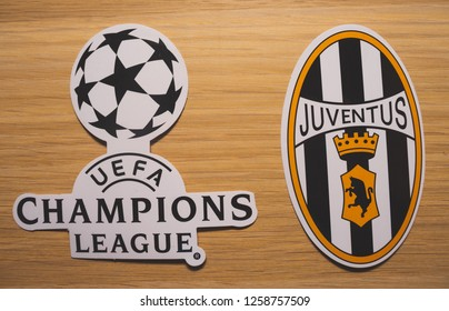 b9c55566093 15 December 2018. Nyon Switzerland. The logo of the football club Juventus  F.C. and