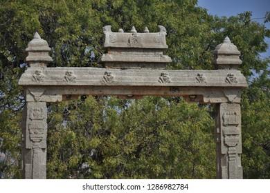 """15 feet high King's Balance of Hampi, Karnataka, South India"""