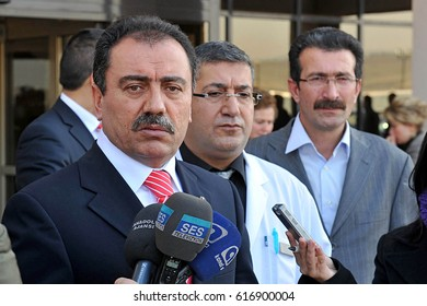 15 January 2009. Ankara, Turkey. Muhsin Yazicioglu was a Turkish politician and member of the Parliament of Turkey.