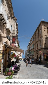 15 JULY 2016- Tropea, Calabria- Italy- Street Tropea during the day, italy