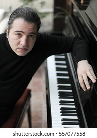 15 March 2011, Istanbul, Turkey. Portrait of world renowned pianist Fazil Say.