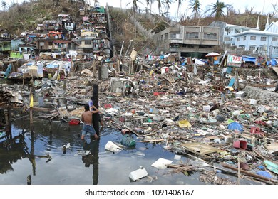 15 November 2013. Tacloban/Philippines. Typhoon Haiyan, known as Super Typhoon Yolanda in the Philippines, was one of the strongest tropical cyclones ever recorded.