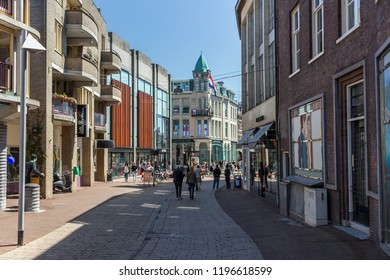 15.04.2018 - Arnhem, Netherlands. Bars and shopping streets in Arnhem. One of the largest and diverse city in the country and a capital of the province Gelderland, Arnhem is a beautiful iconic city.