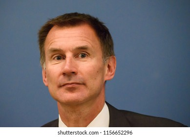 15.08.2018. RIGA, LATVIA. Press conference of Jeremy Hunt, Minister of Foreign Affairs of United Kingdom and Edgars Rinkevics, Minister of Foreign Affairs of Latvia.